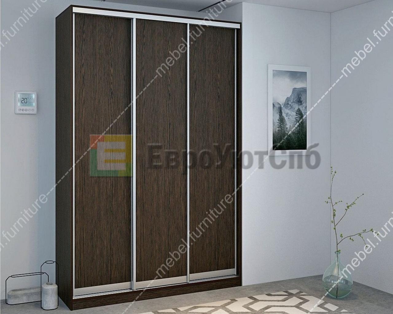 шкаф купе трехдверный без зеркала дельта 1600 купить в санкт